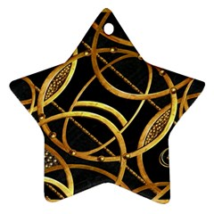 Futuristic Ornament Decorative Print Star Ornament (two Sides)