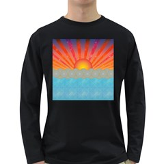 Oriental Sunset Men s Long Sleeve T Shirt (dark Colored)