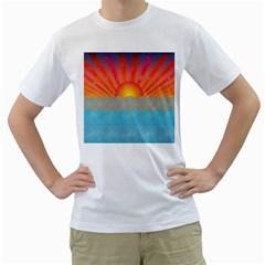 Oriental Sunset Men s T-Shirt (White)