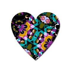 Digital Futuristic Geometric Pattern Magnet (heart)