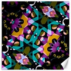 Digital Futuristic Geometric Pattern Canvas 16  X 16  (unframed)