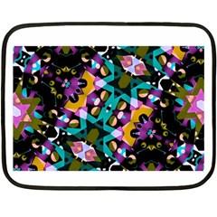Digital Futuristic Geometric Pattern Mini Fleece Blanket (two Sided)