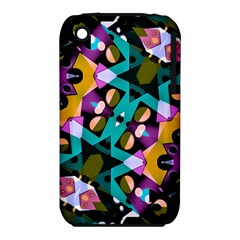 Digital Futuristic Geometric Pattern Apple iPhone 3G/3GS Hardshell Case (PC+Silicone)