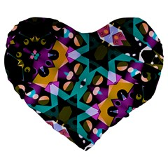 Digital Futuristic Geometric Pattern 19  Premium Heart Shape Cushion