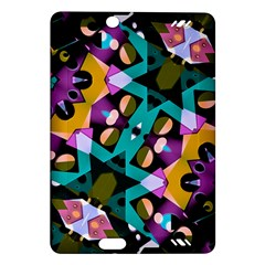 Digital Futuristic Geometric Pattern Kindle Fire HD (2013) Hardshell Case