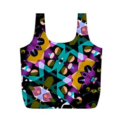 Digital Futuristic Geometric Pattern Reusable Bag (m)