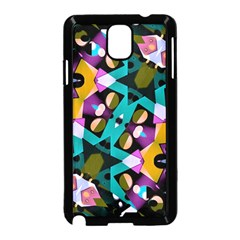 Digital Futuristic Geometric Pattern Samsung Galaxy Note 3 Neo Hardshell Case (black)
