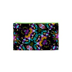 Digital Futuristic Geometric Pattern Cosmetic Bag (xs)
