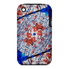 Floral Pattern Digital Collage Apple iPhone 3G/3GS Hardshell Case (PC+Silicone)