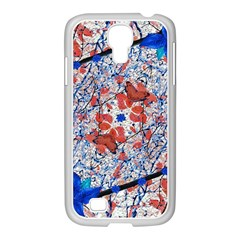 Floral Pattern Digital Collage Samsung GALAXY S4 I9500/ I9505 Case (White)