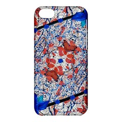 Floral Pattern Digital Collage Apple Iphone 5c Hardshell Case