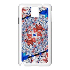 Floral Pattern Digital Collage Samsung Galaxy Note 3 N9005 Case (White)