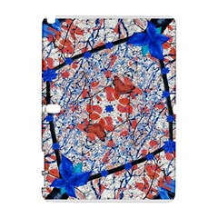 Floral Pattern Digital Collage Samsung Galaxy Note 10.1 (P600) Hardshell Case