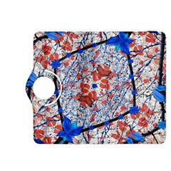 Floral Pattern Digital Collage Kindle Fire HDX 8.9  Flip 360 Case