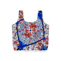Floral Pattern Digital Collage Reusable Bag (S)
