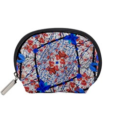 Floral Pattern Digital Collage Accessory Pouch (Small)