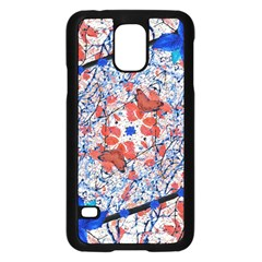 Floral Pattern Digital Collage Samsung Galaxy S5 Case (Black)
