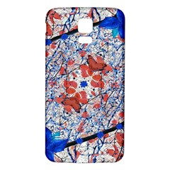 Floral Pattern Digital Collage Samsung Galaxy S5 Back Case (White)