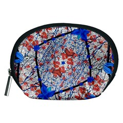 Floral Pattern Digital Collage Accessory Pouch (Medium)