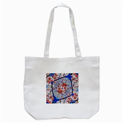 Floral Pattern Digital Collage Tote Bag (White)