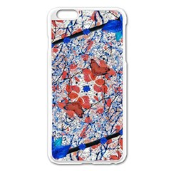 Floral Pattern Digital Collage Apple iPhone 6 Plus Enamel White Case