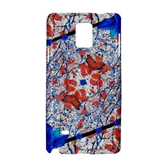 Floral Pattern Digital Collage Samsung Galaxy Note 4 Hardshell Case