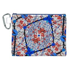 Floral Pattern Digital Collage Canvas Cosmetic Bag (XXL)