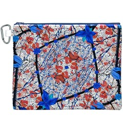 Floral Pattern Digital Collage Canvas Cosmetic Bag (xxxl)