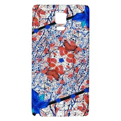 Floral Pattern Digital Collage Samsung Note 4 Hardshell Back Case