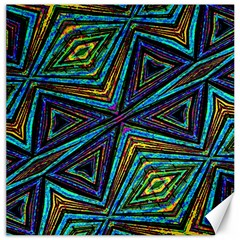 Tribal Style Colorful Geometric Pattern Canvas 12  x 12  (Unframed)