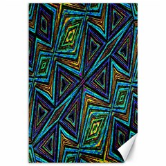 Tribal Style Colorful Geometric Pattern Canvas 12  X 18  (unframed)