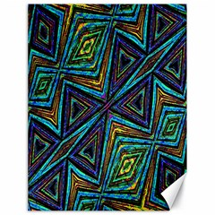 Tribal Style Colorful Geometric Pattern Canvas 18  x 24  (Unframed)