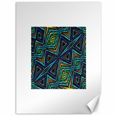 Tribal Style Colorful Geometric Pattern Canvas 36  x 48  (Unframed)