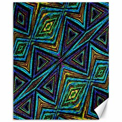 Tribal Style Colorful Geometric Pattern Canvas 11  X 14  (unframed)
