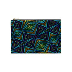 Tribal Style Colorful Geometric Pattern Cosmetic Bag (medium)