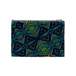 Tribal Style Colorful Geometric Pattern Cosmetic Bag (Medium) Back