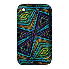 Tribal Style Colorful Geometric Pattern Apple iPhone 3G/3GS Hardshell Case (PC+Silicone)