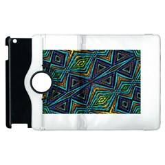 Tribal Style Colorful Geometric Pattern Apple iPad 2 Flip 360 Case