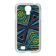 Tribal Style Colorful Geometric Pattern Samsung GALAXY S4 I9500/ I9505 Case (White)