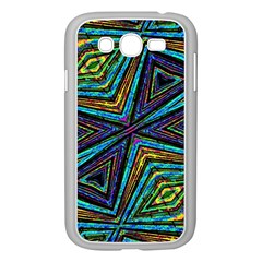 Tribal Style Colorful Geometric Pattern Samsung Galaxy Grand DUOS I9082 Case (White)