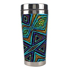 Tribal Style Colorful Geometric Pattern Stainless Steel Travel Tumbler