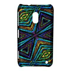 Tribal Style Colorful Geometric Pattern Nokia Lumia 620 Hardshell Case
