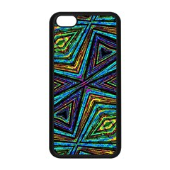 Tribal Style Colorful Geometric Pattern Apple Iphone 5c Seamless Case (black)