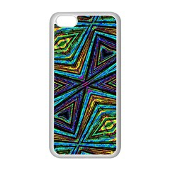 Tribal Style Colorful Geometric Pattern Apple iPhone 5C Seamless Case (White)