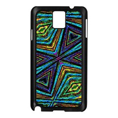 Tribal Style Colorful Geometric Pattern Samsung Galaxy Note 3 N9005 Case (black)