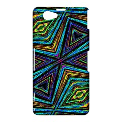 Tribal Style Colorful Geometric Pattern Sony Xperia Z1 Compact Hardshell Case