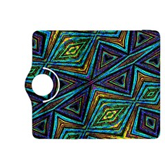 Tribal Style Colorful Geometric Pattern Kindle Fire HDX 8.9  Flip 360 Case