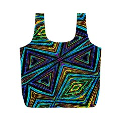 Tribal Style Colorful Geometric Pattern Reusable Bag (M)