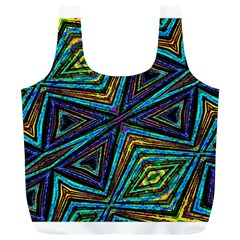Tribal Style Colorful Geometric Pattern Reusable Bag (XL)