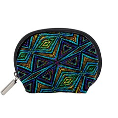 Tribal Style Colorful Geometric Pattern Accessory Pouch (Small)